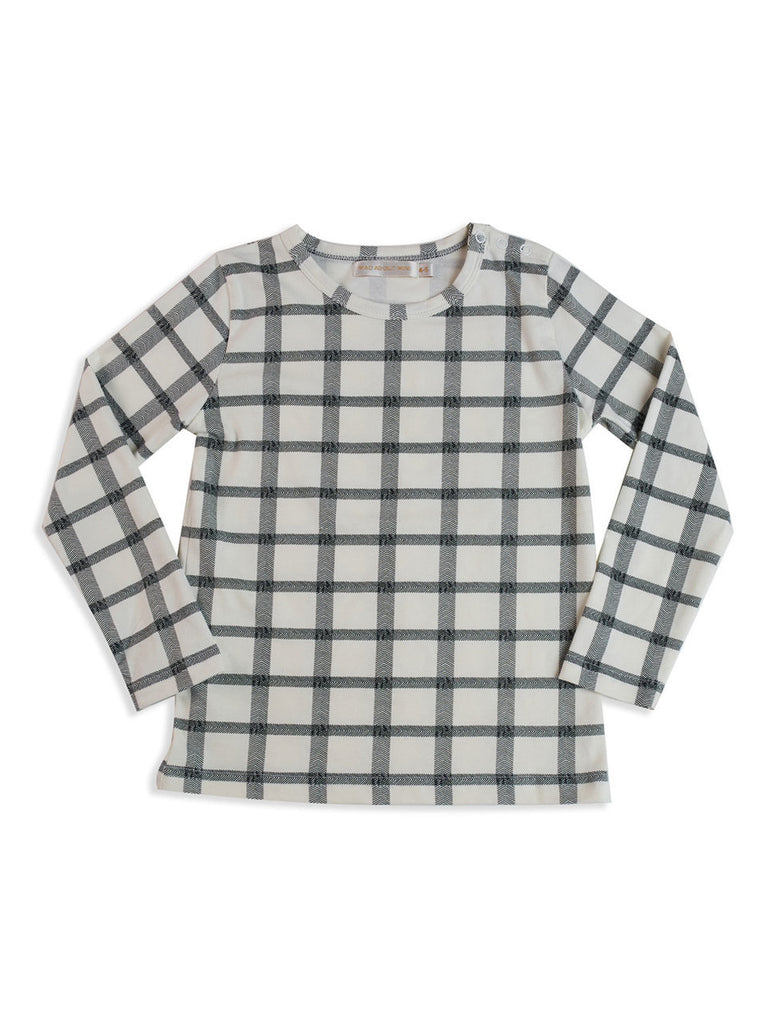 Herringbone Check L/S Tee