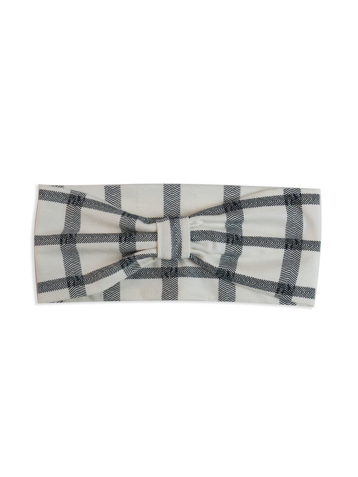 Herringbone Check Headband