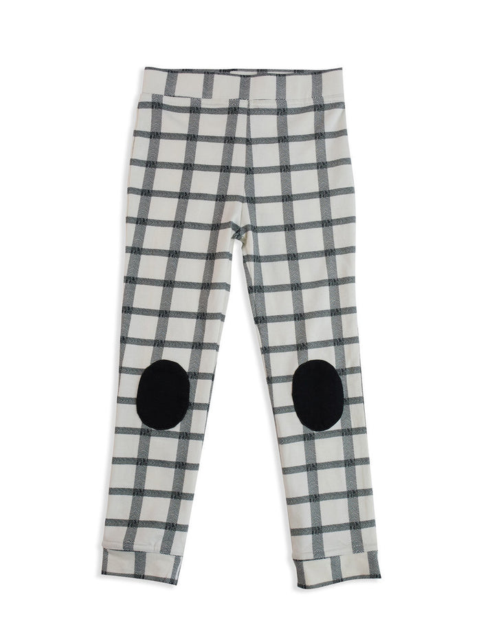 Herringbone Check Patch Leggings