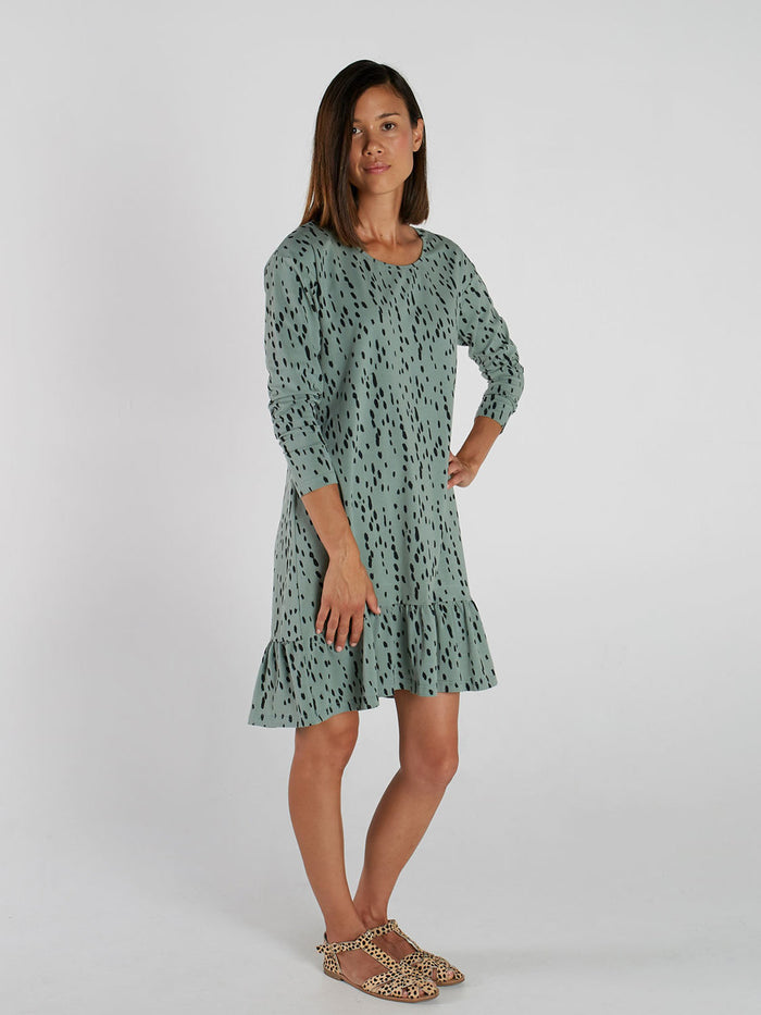 Women's L/S Frill Dress