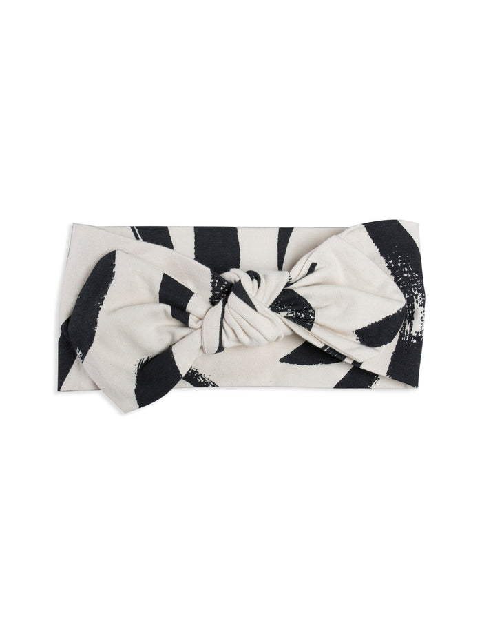 Painted Stripe Womens Bow Headband