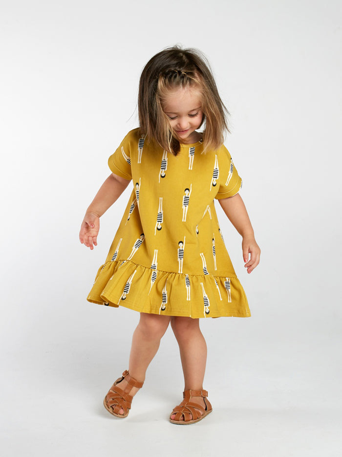 Bather Girl Tee Frill Dress