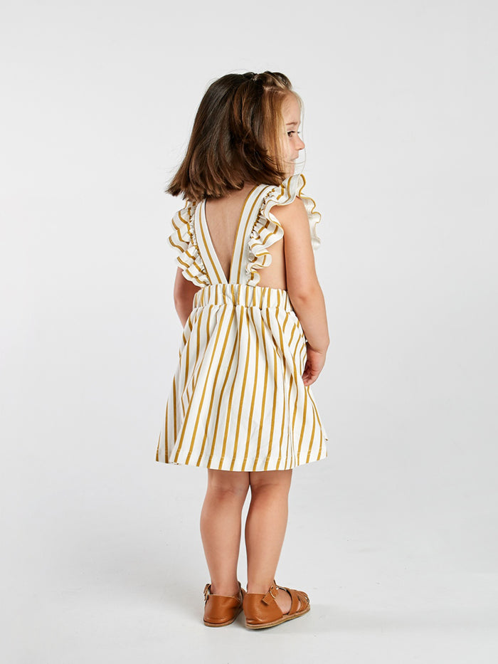 Stripe Frill Tunic Dress