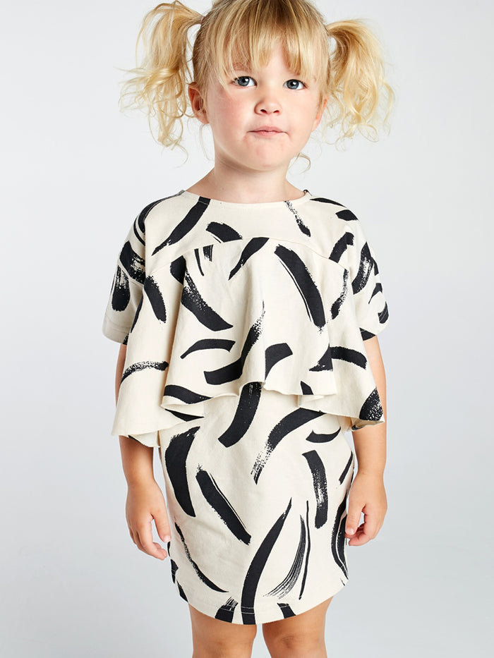 Painted Stripe Front Tier Dress