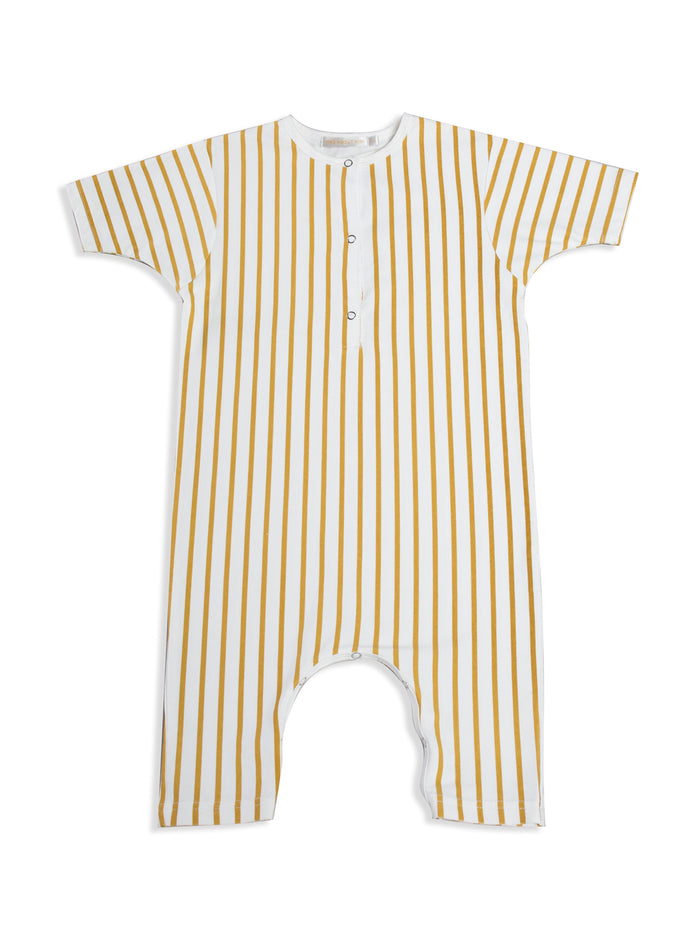 Stripe Button Up Jumpsuit