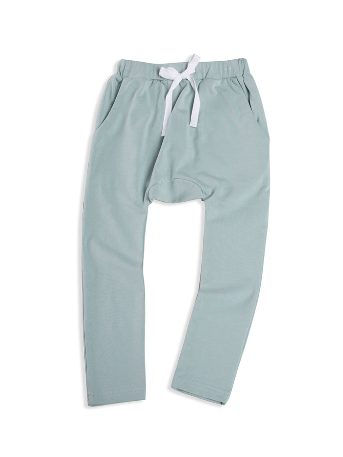 Blue Mist Low Slung Pant with Tie