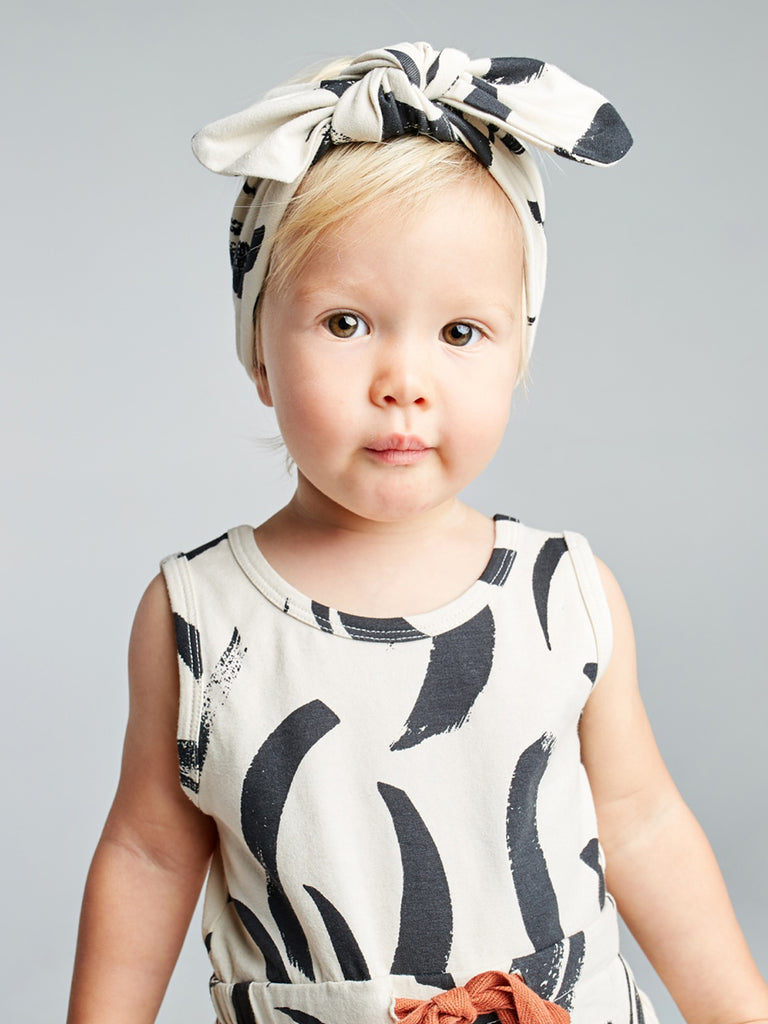 Painted Stripe Bow Headband