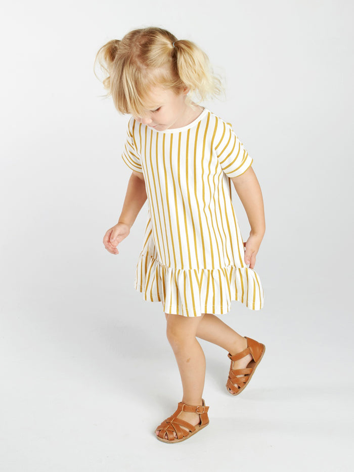 Stripe Tee Frill Dress