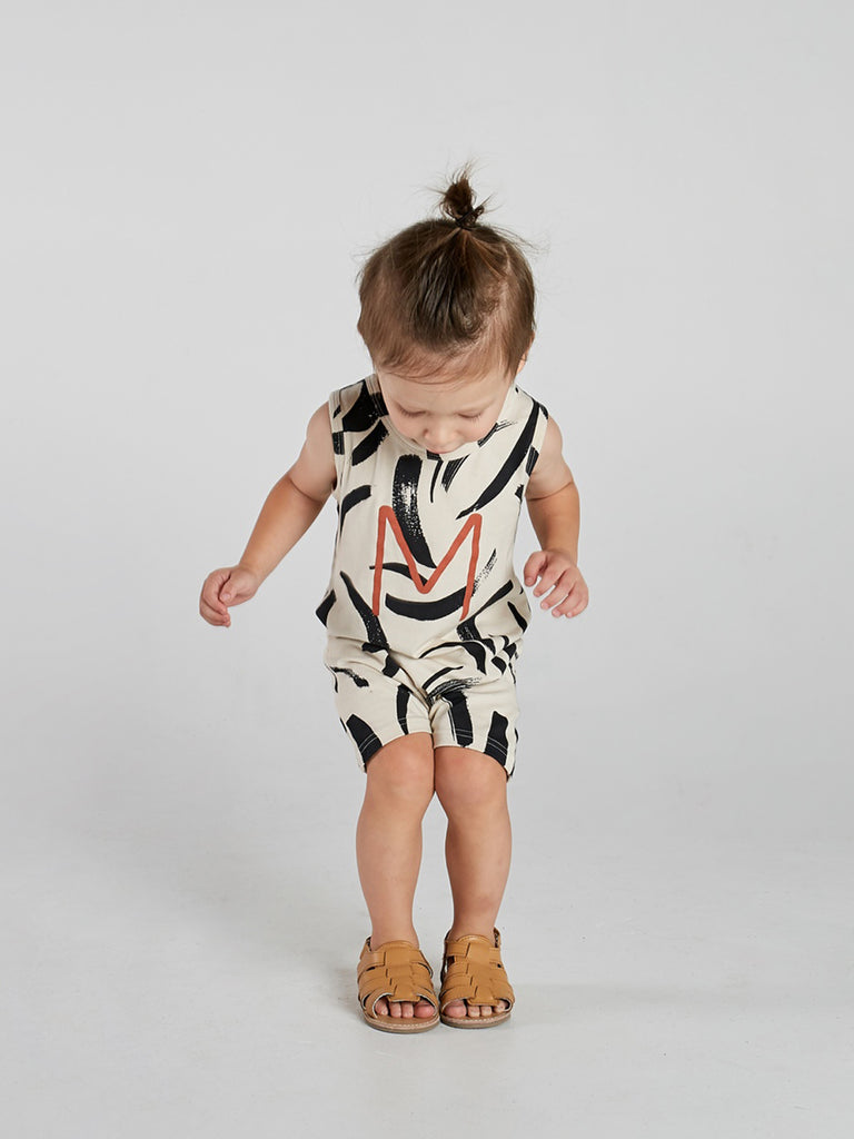 Painted Stripe Tank Onesie