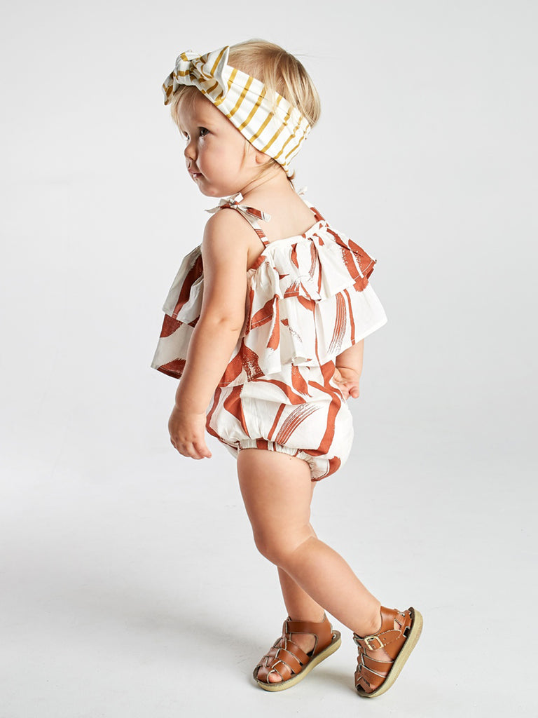 Painted Stripe Tier Romper
