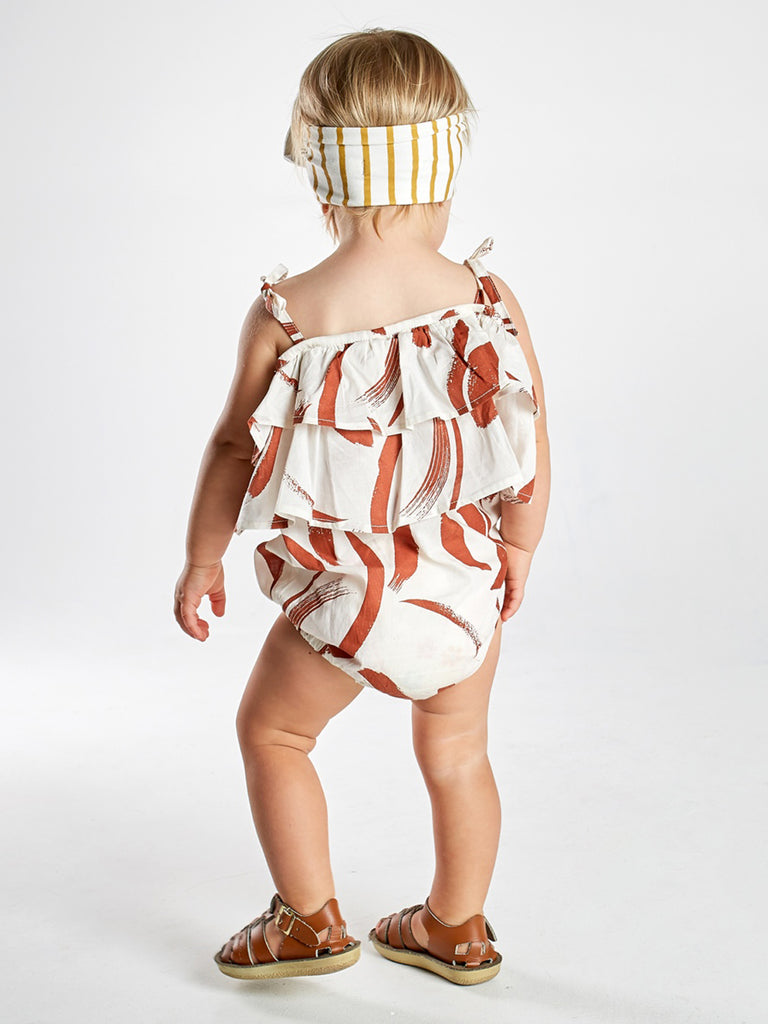 Painted Stripe Tier Romper - Size 4-5 only
