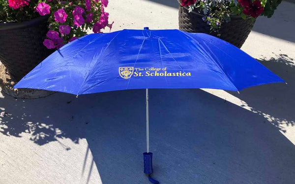 Auto Fold Umbrella (Official Crest - The College of St. Scholastica)