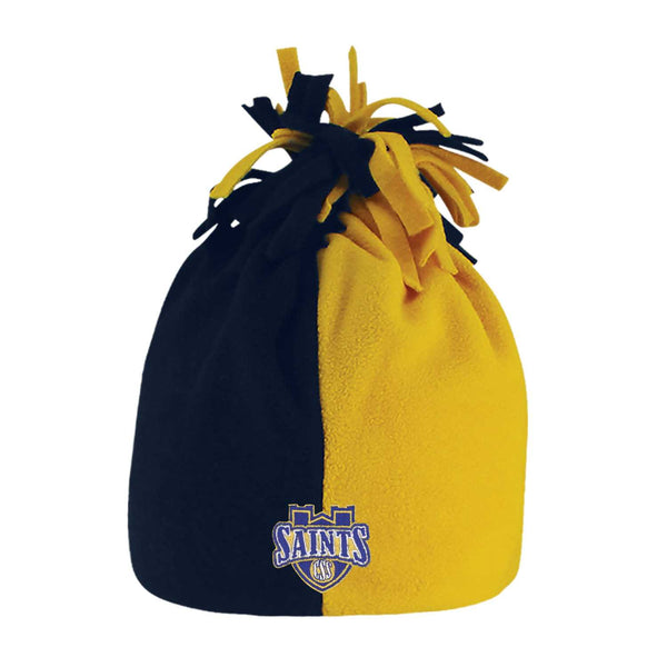 "LogoFit ""Noodles"" Toddler Two Toned Hat with Fun Noodles - Navy/Gold"