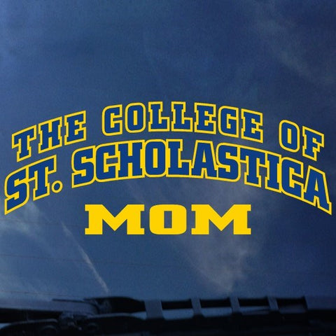 The College of Over St. Scholastica Arched over Mom Decal