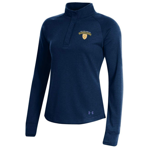 Under Armour F19 Women's Double Knit 1/4 Snap - Midnight Navy