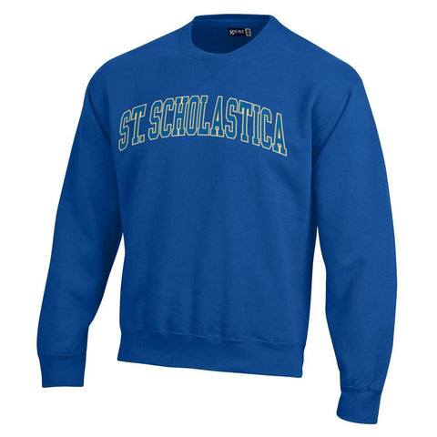 Gear Big Cotton Tumbled Crew - Arched Scholastica - Royal Blue