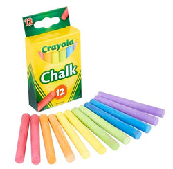 Crayola Chalk (assorted colors. 12/box)