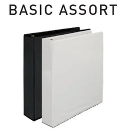Economy Round Ring View Binders - Basic Asst - 1""