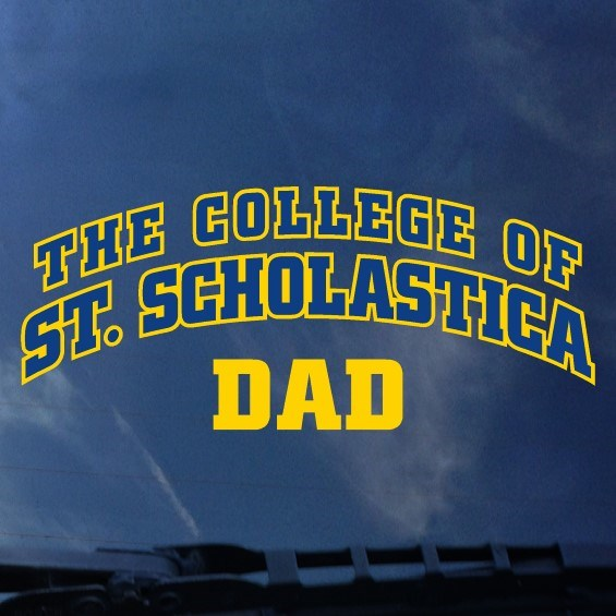 The College of Over St. Scholastica Arched over Dad Decal