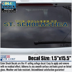 The College of St. Scholastica Long Window Decal