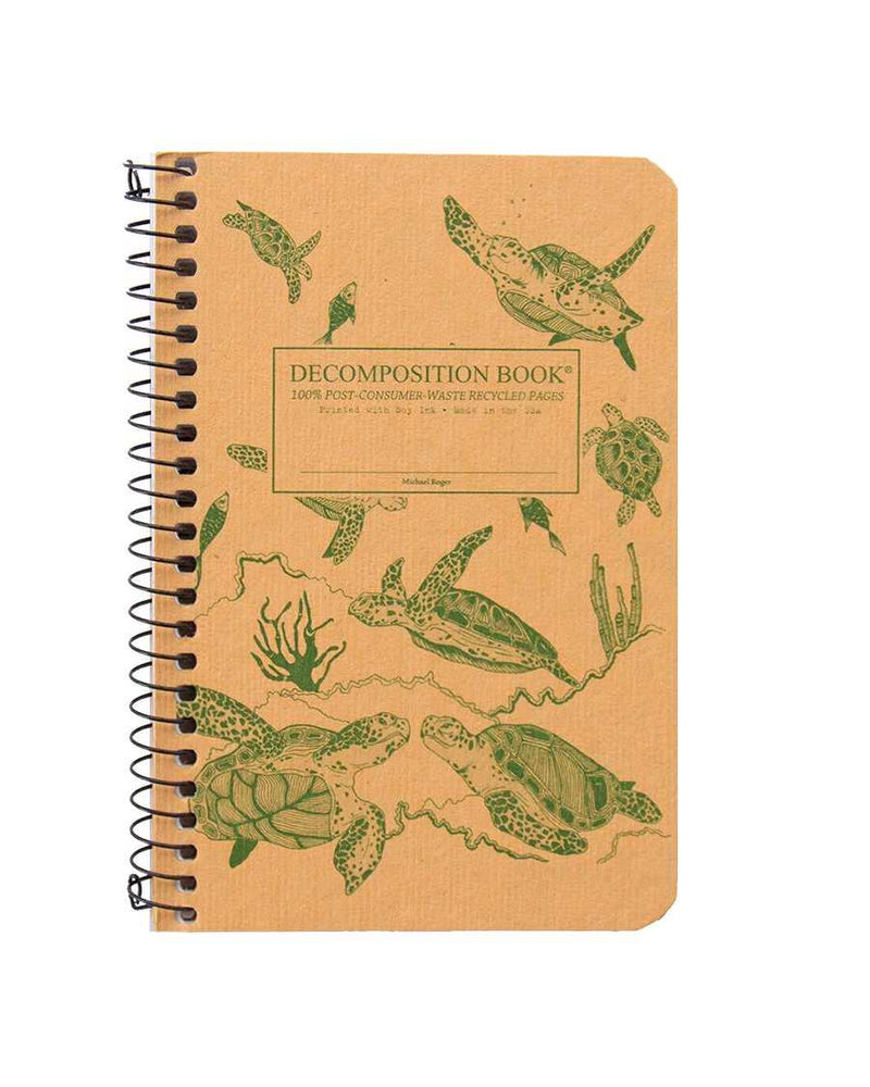 Recycled Notebook | 100% Post Consumer Waste | Sea Turtles Decomposition Book | Pocket Sized