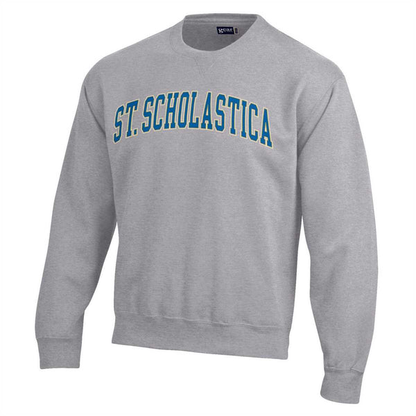 Gear Big Cotton Tumbled Crew - Arched Scholastica - Oxford Heather