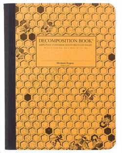 Recycled Notebook | 100% Post Consumer Waste | Honeycomb Decomposition Book