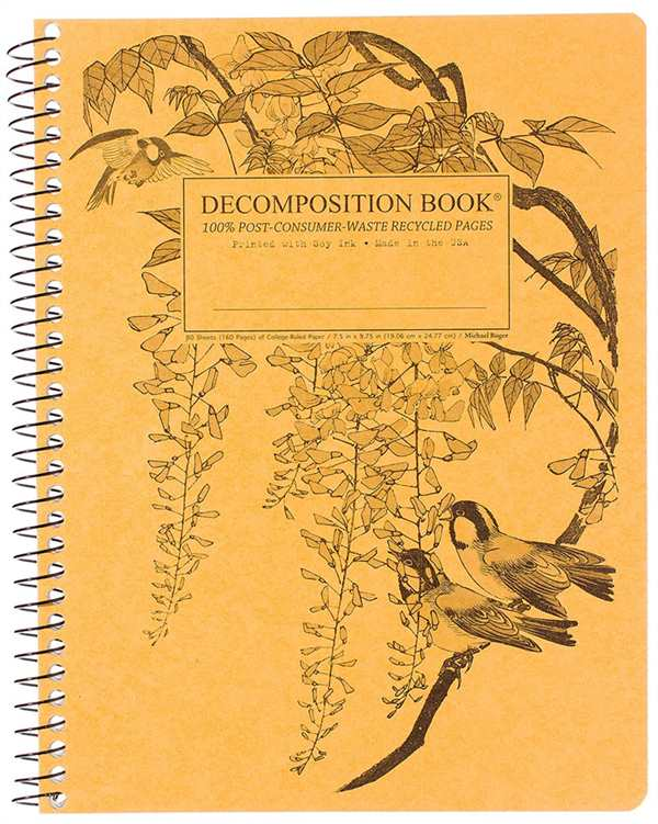 Recycled Notebook | 100% Post Consumer Waste | Leafy Perch Decomposition Book