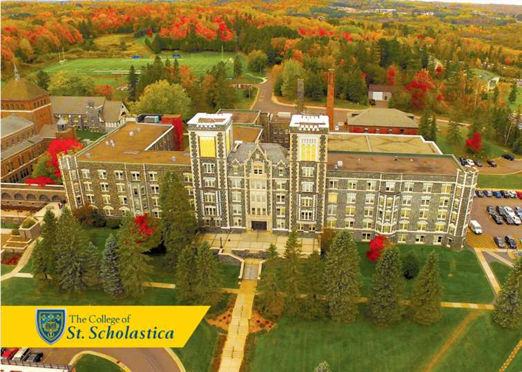 St. Scholastica Postcard - All Designs