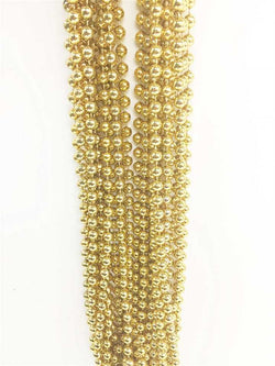 Mardi Gras Bead Necklace - Gold