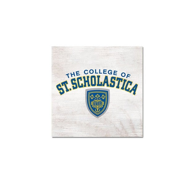 Legacy Table Top Square with St. Scholastica's Collegiate Shield
