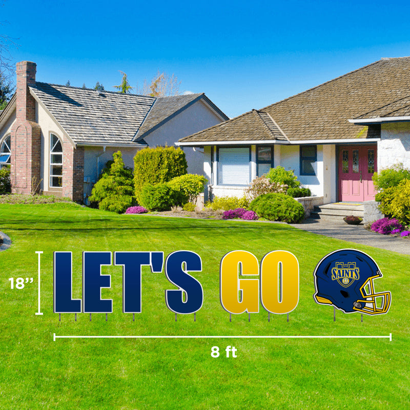 Let's Go St. Scholastica Lawn Display