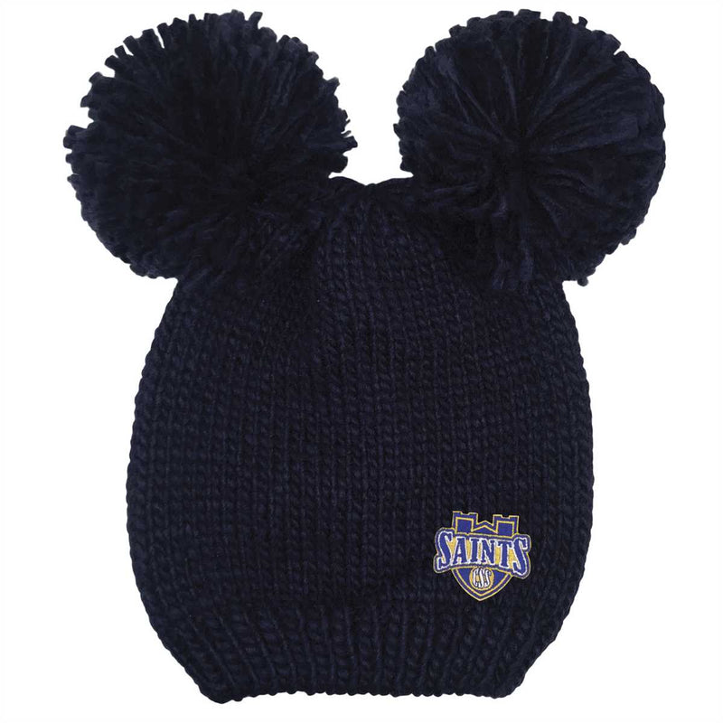 "LogoFit ""Leia"" Double Pom Knit Hat - Navy"