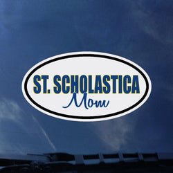 St. Scholastica Mom Window Decal
