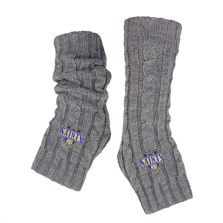 "LogoFit ""Apex"" Cable Knit Arm Warmers - Lt. Heather"