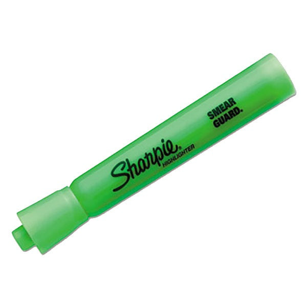 Sharpie Highlighter (chisel tip; fluorescent green)