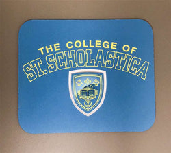 "Heavy Duty Mouse Pad with The College of St. Scholastica Shield. 9.5"" x 8"" x 3/16"""