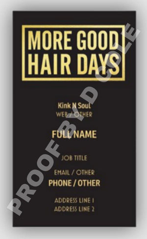 Business Cards - Slay The Day By D Cole