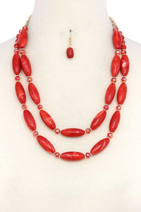 slaythedaybydcole,Oval Bead Layered Necklace,Slay The Day By D Cole,