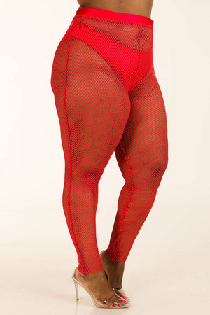 slaythedaybydcole,Color Pop - Mesh Leggings Plus Size,Slay The Day By D Cole,