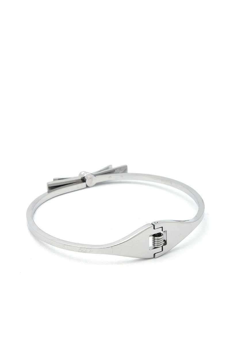 Stainless Steel Bow Knot Bangle
