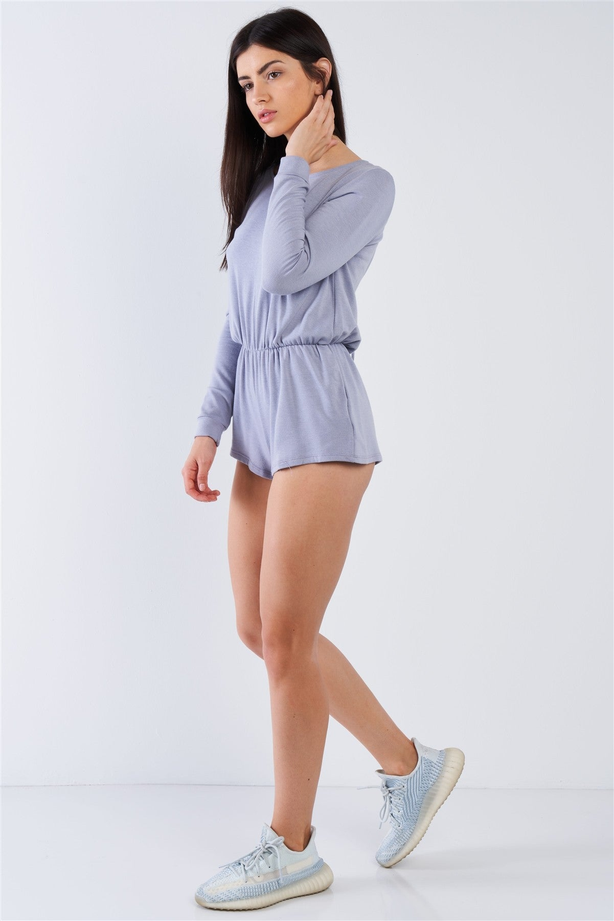 slaythedaybydcole,Comfy Tie-back Long Sleeve Romper,Slay The Day By D Cole,