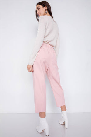 slaythedaybydcole,Pastel Chic Solid Ankle Wide Leg Adjustable Snap Waist Pants,Slay The Day By D Cole,
