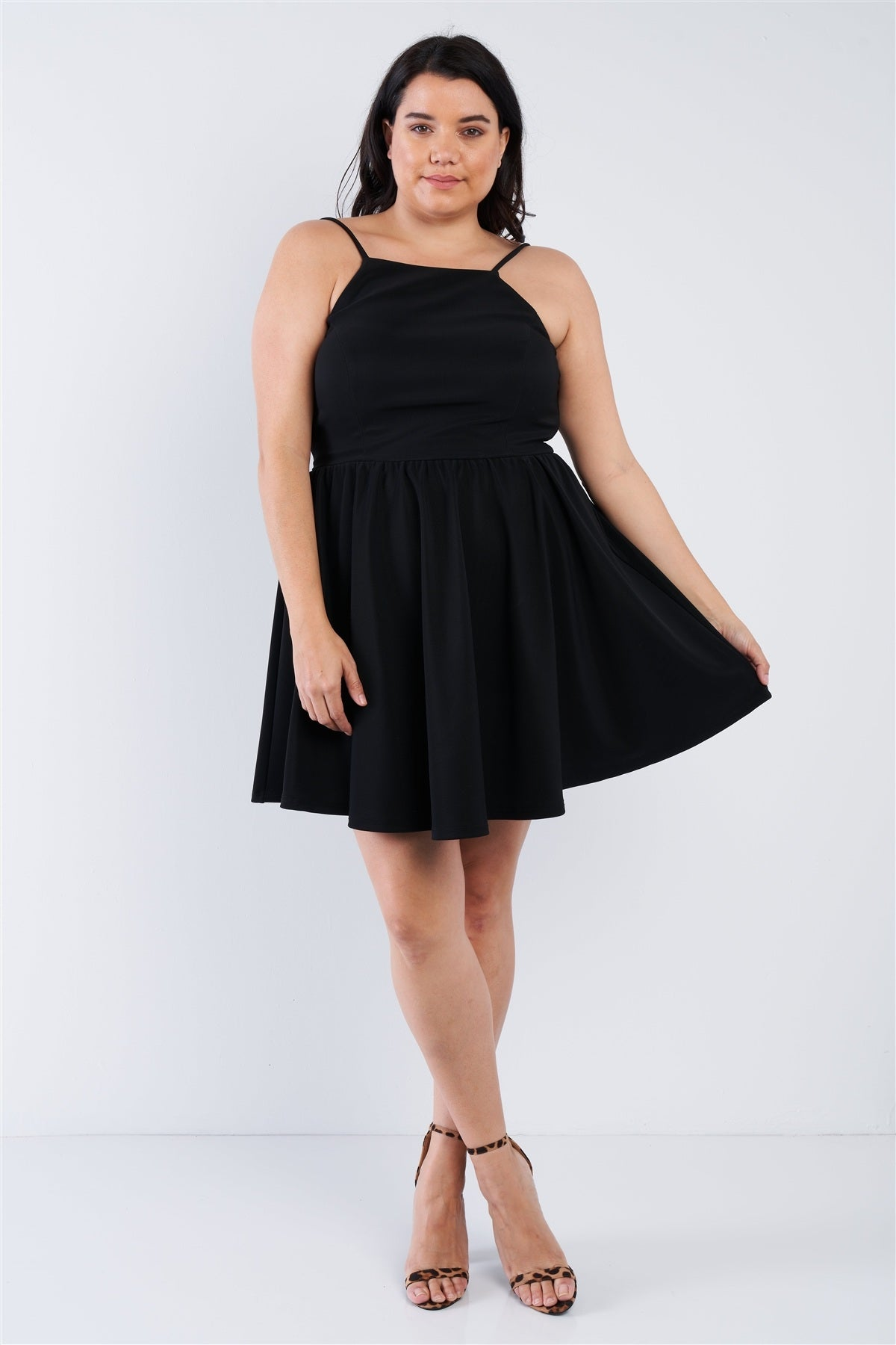 slaythedaybydcole,Plus Size Fit N Flare Mini Dress,Slay The Day By D Cole,