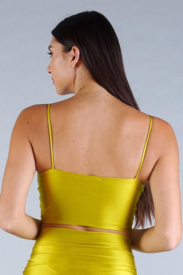 Darted Under Bust Crop Top