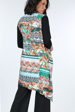 Asymmetrical Print High Low Top