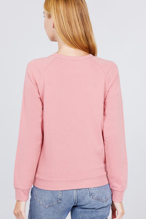 Love Sequins French Terry Pullover