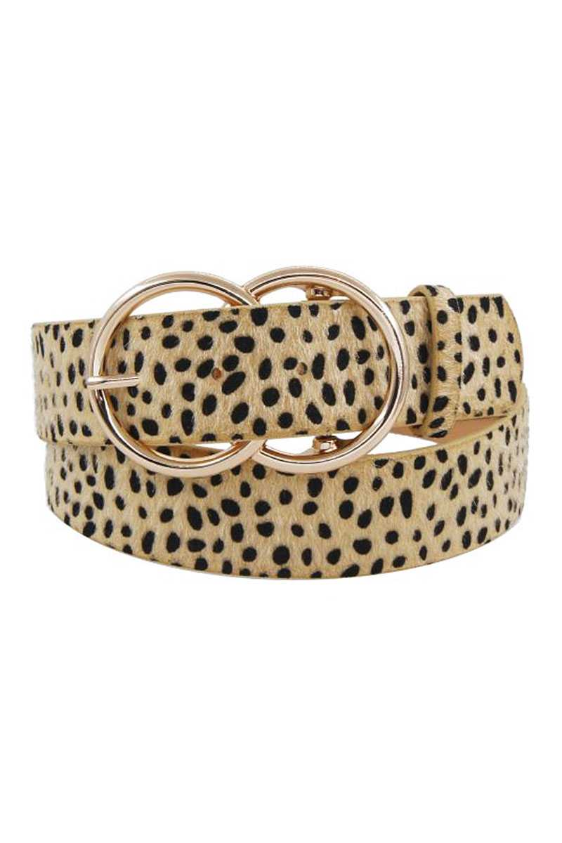 Cheetah Pattern Fur Belt