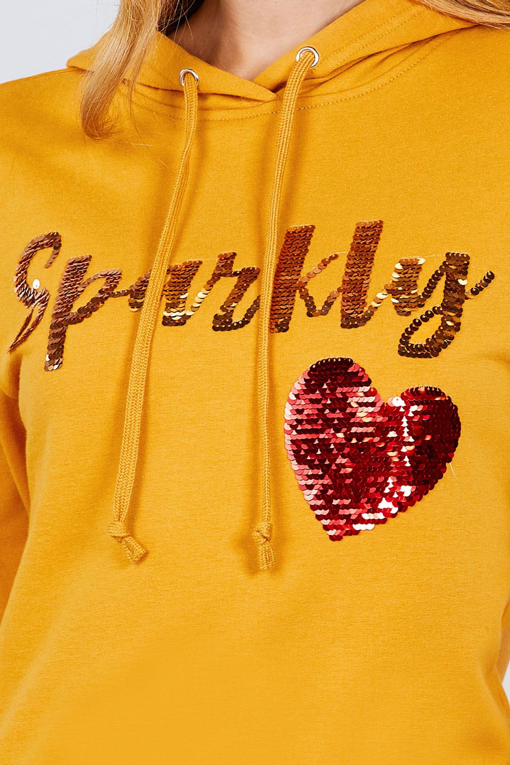Sparkly Sequin Hoodie Pullover