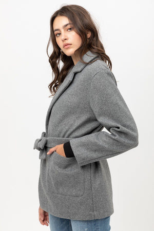 My Fair Lady Fleece Belted Coat